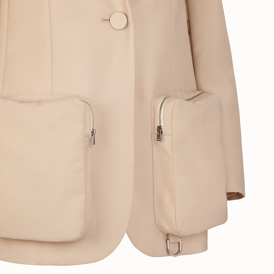 FENDI JACKET - Beige mohair blazer - view 3 detail