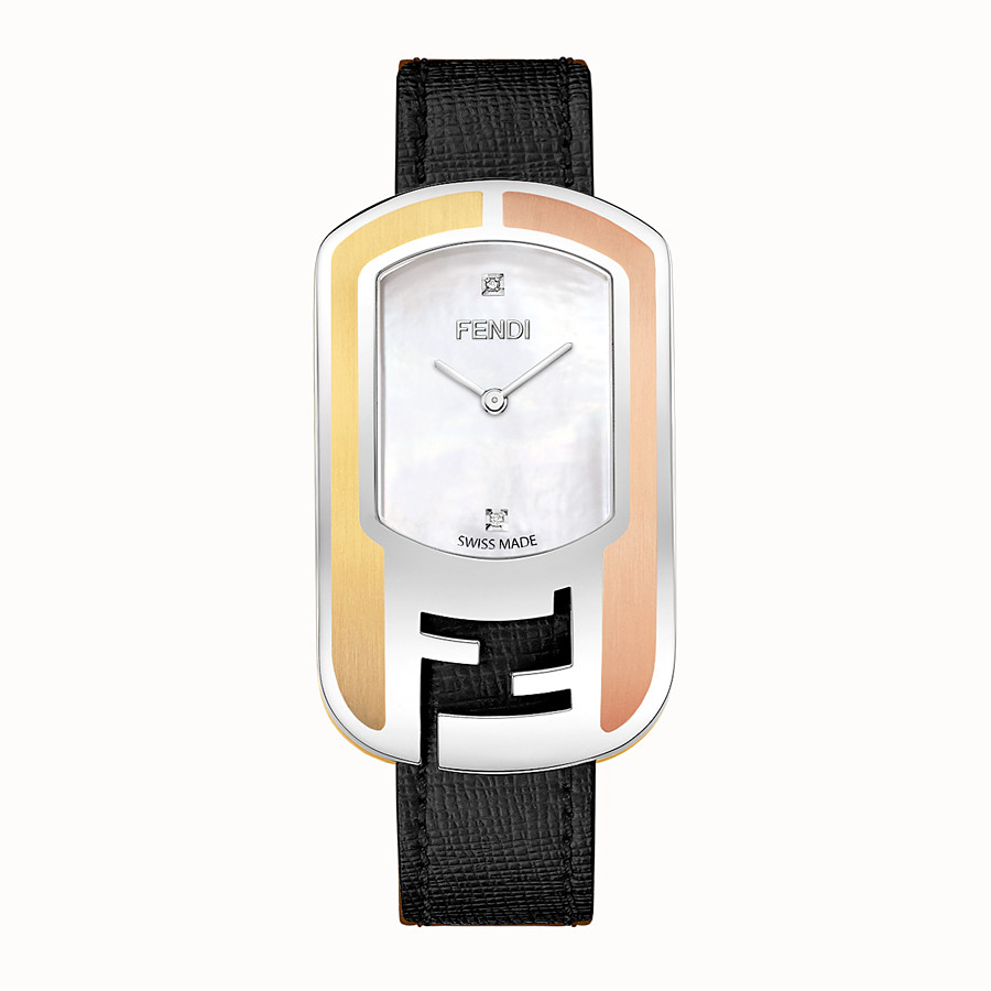 FENDI CHAMELEON - Curved case watch with metal inserts - view 1 detail