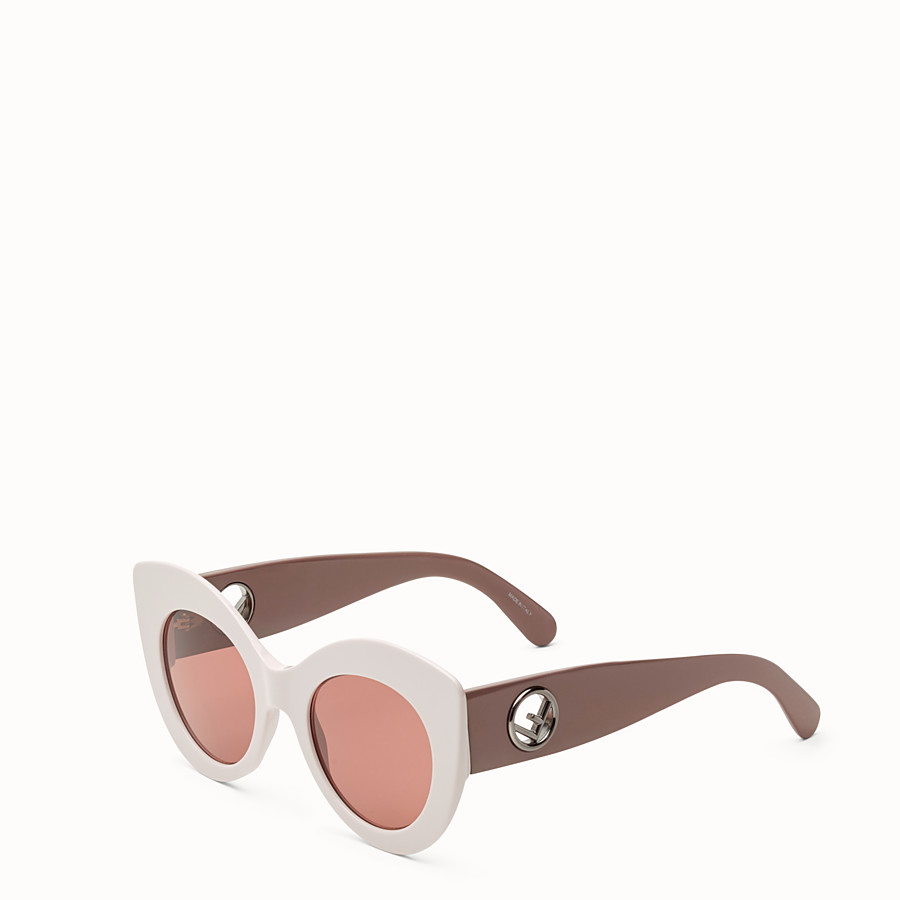 FENDI F IS FENDI - Pink and mauve sunglasses - view 2 detail