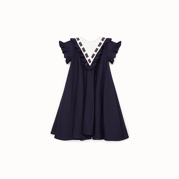 FENDI DRESS - Blue cotton dress - view 1 small thumbnail