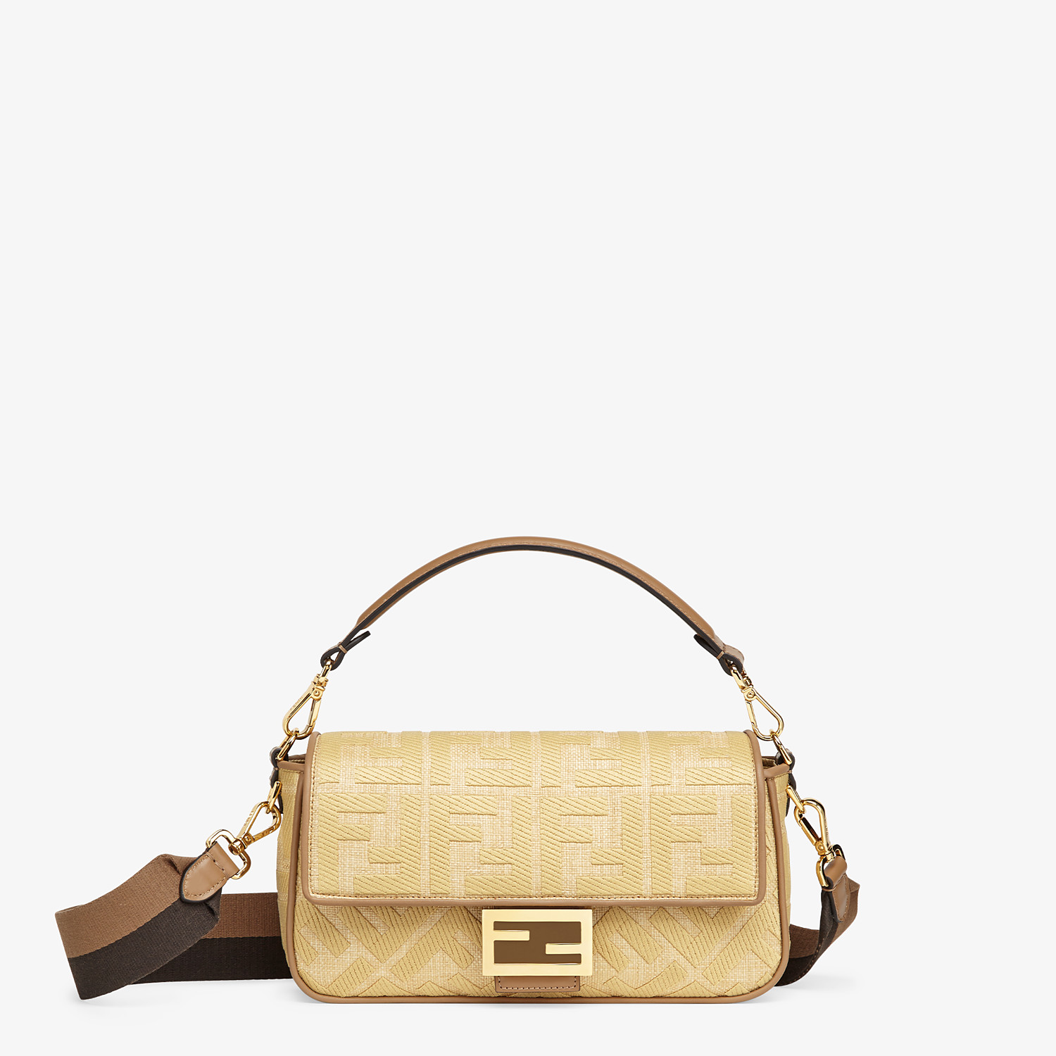 FENDI BAGUETTE - Natural straw bag - view 1 detail