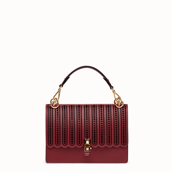 FENDI KAN I - Burgundy leather bag - view 1 small thumbnail