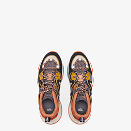 FENDI SNEAKERS - Multicolour suede and tech mesh sneakers - view 4 thumbnail