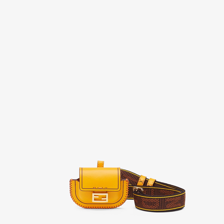 FENDI PICO BAGUETTE CHARM - Orange leather charm - view 1 detail