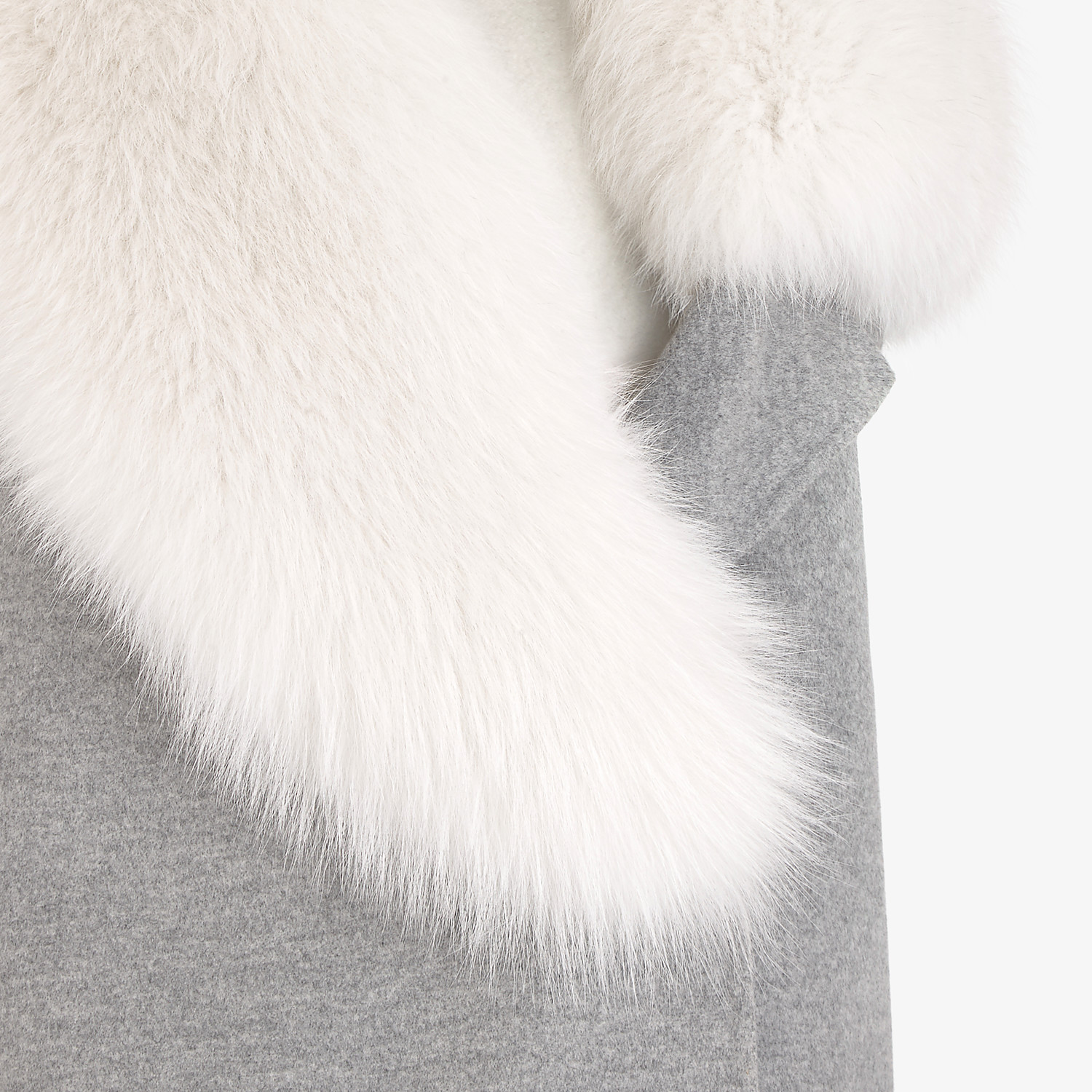 FENDI GILET - Grey cashmere gilet - view 3 detail