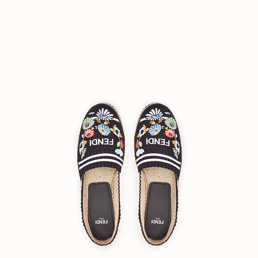 FENDI ESPADRILLES - Black fabric espadrilles - view 4 detail