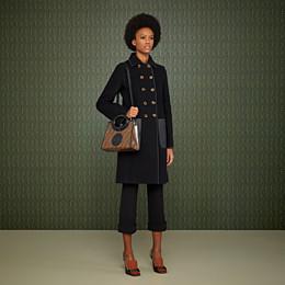 FENDI RUNAWAY SHOPPER - Shopper in brown fabric - view 2 thumbnail