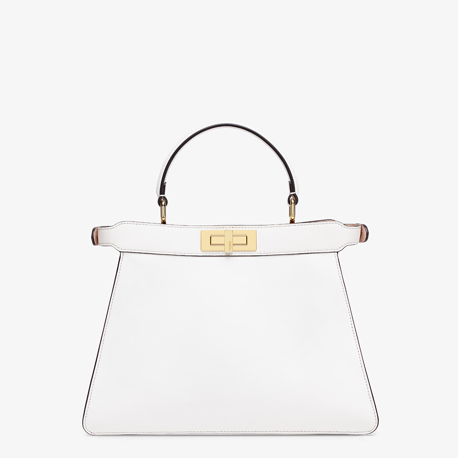 FENDI PEEKABOO ISEEU MEDIUM - White leather bag - view 6 detail