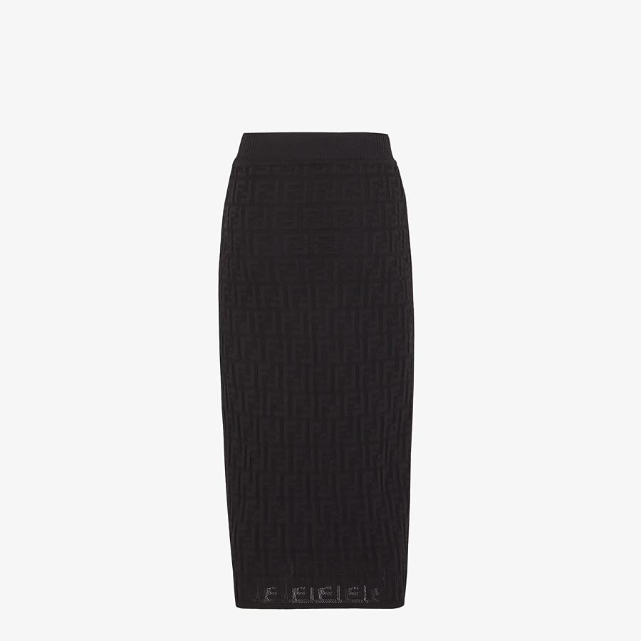 FENDI SKIRT - Black cotton skirt - view 2 detail