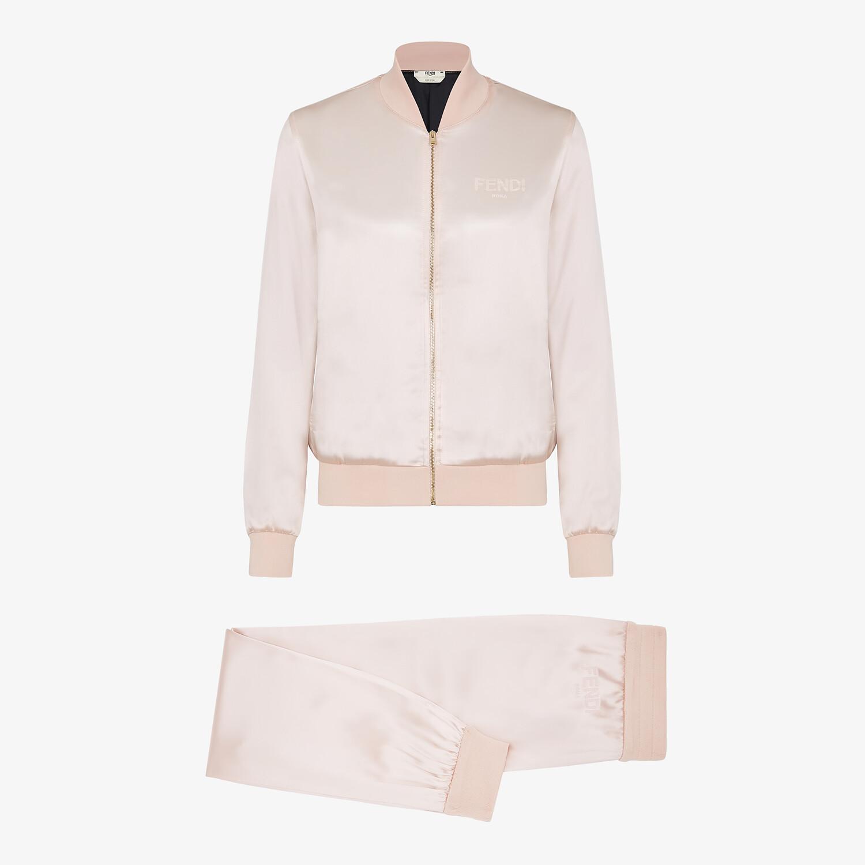 FENDI JUMPSUIT - Pink satin sweatshirt and pants - view 1 detail