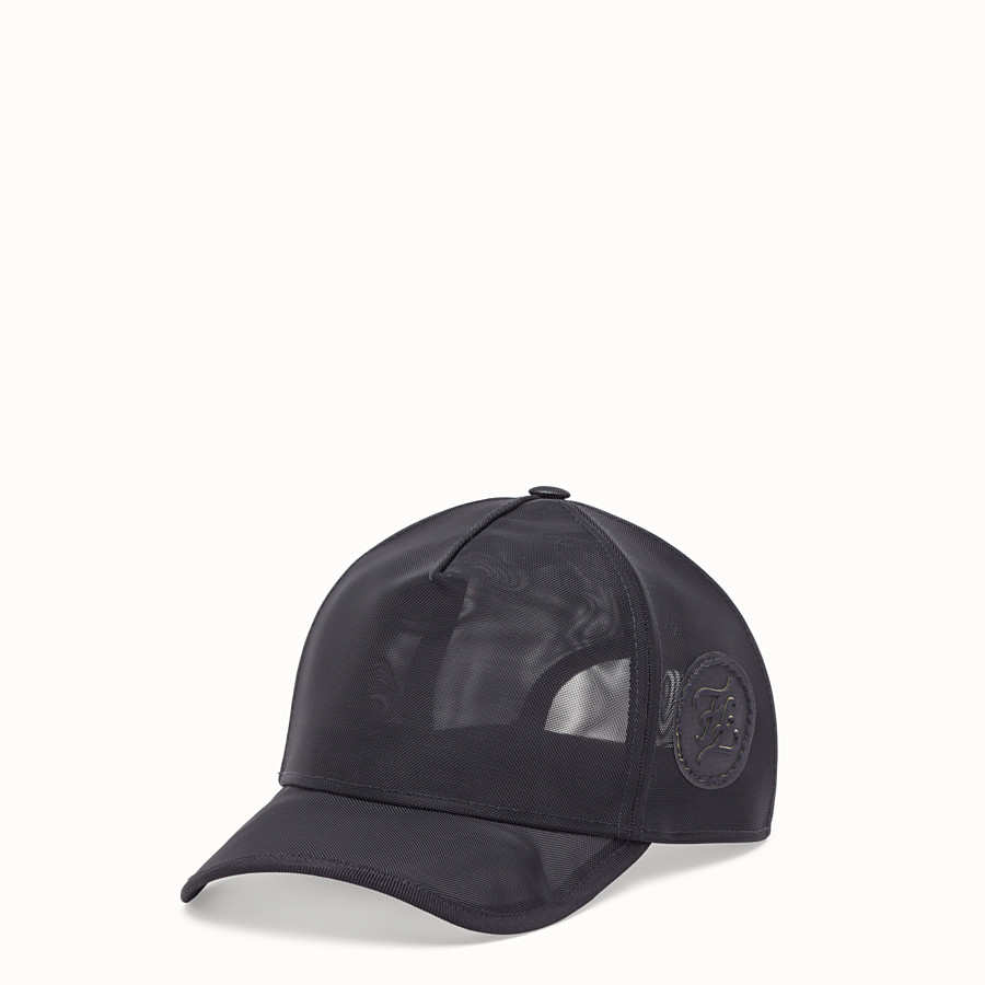 FENDI HAT - Black mesh baseball cap - view 1 detail