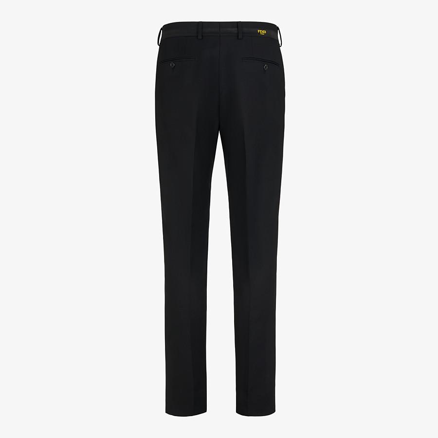 FENDI PANTS - Black wool pants - view 2 detail