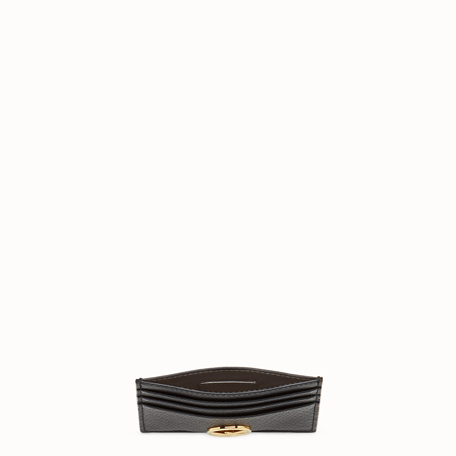 FENDI CARD HOLDER - Flat black leather card holder - view 4 detail