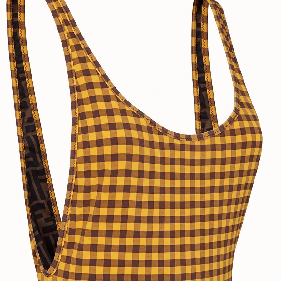 FENDI ONE-PIECE SWIMSUIT - Vichy Lycra® swimsuit - view 3 detail