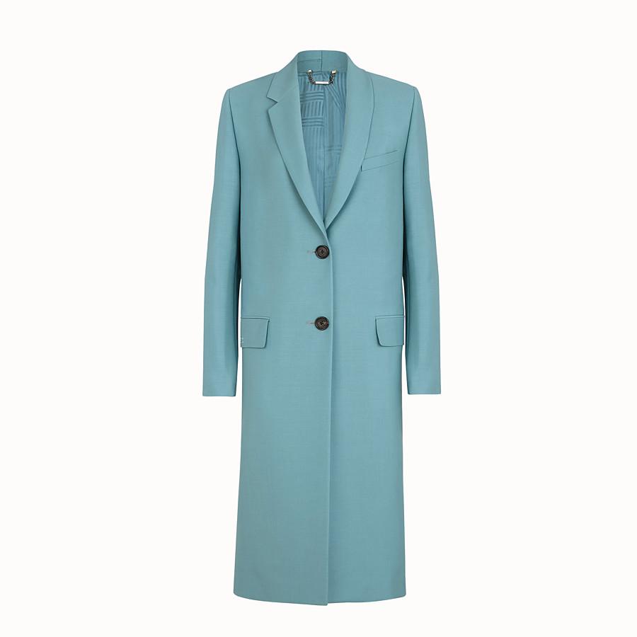 FENDI COAT - Light blue kid mohair coat - view 1 detail