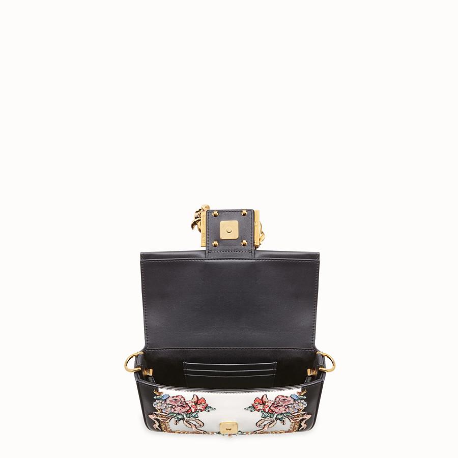 FENDI BAGUETTE MINI - Black leather bag - view 4 detail