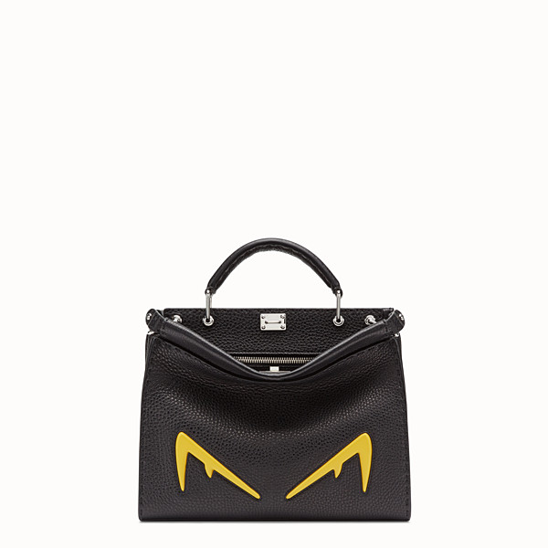FENDI PEEKABOO ICONIC FIT MINI - Black Romano leather bag - view 1 small thumbnail