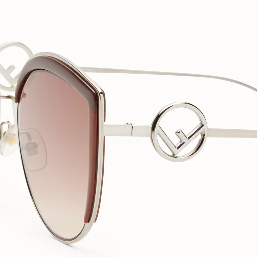 FENDI F IS FENDI - Palladium-color sunglasses - view 3 detail