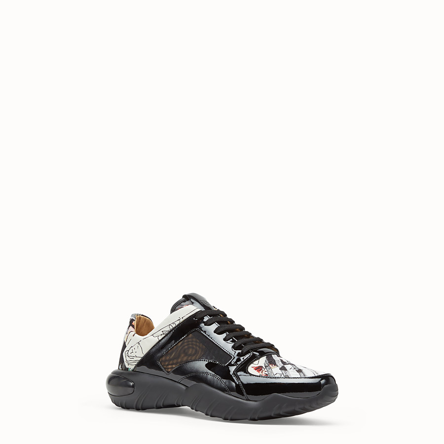 FENDI SNEAKERS - Multicolour fabric low top - view 2 detail