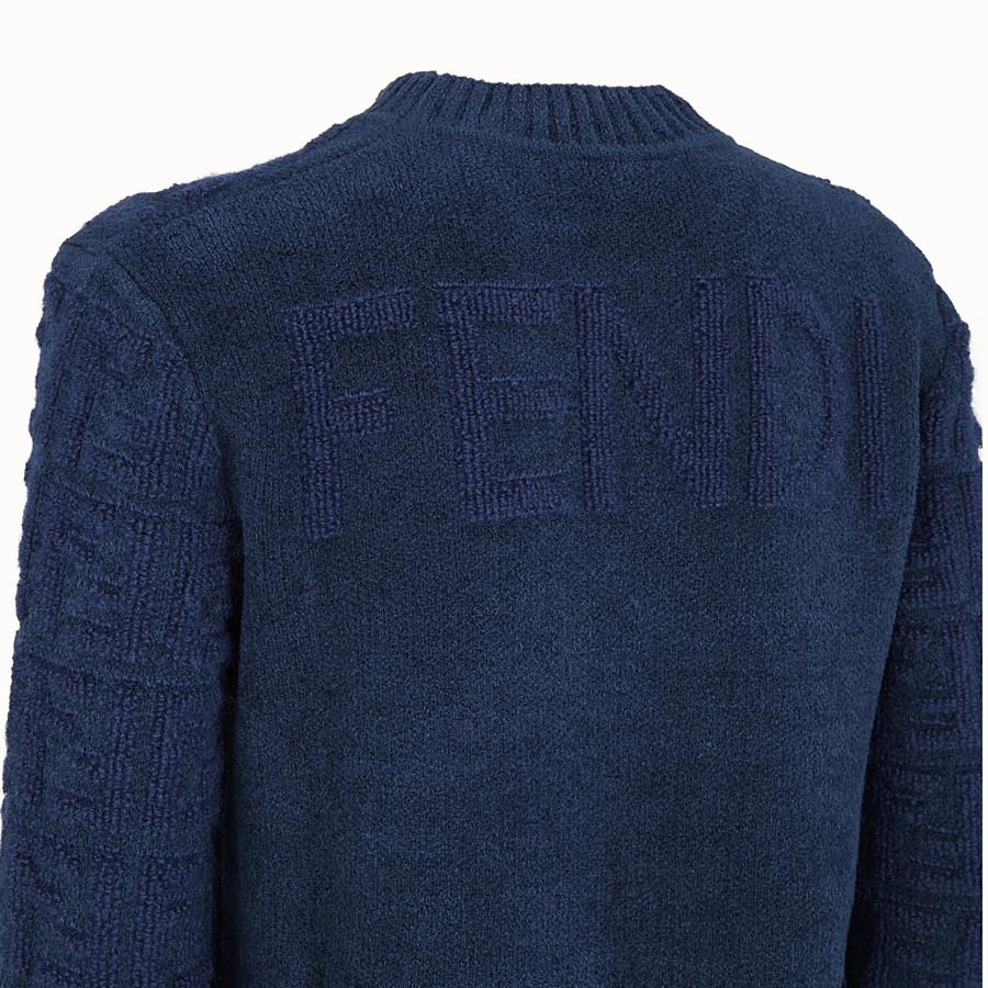 FENDI PULLOVER - Pullover aus Mohair in Blau - view 3 detail