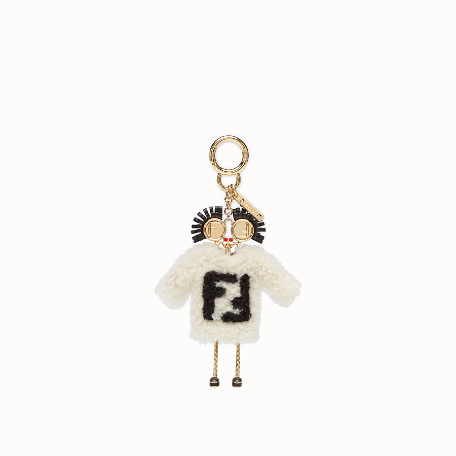 FENDI TEEN WITCHES CHARM - Multicolour sheepskin charm - view 2 detail