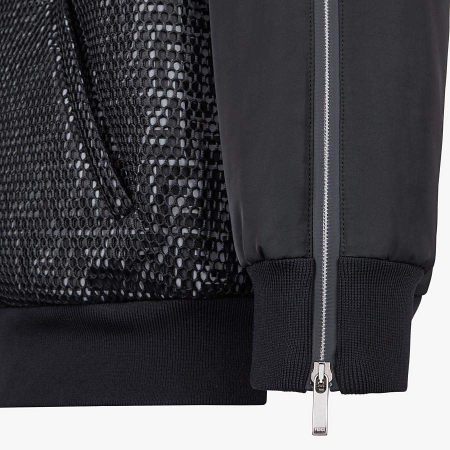 FENDI BOMBER - Black tech fabric jacket - view 3 detail