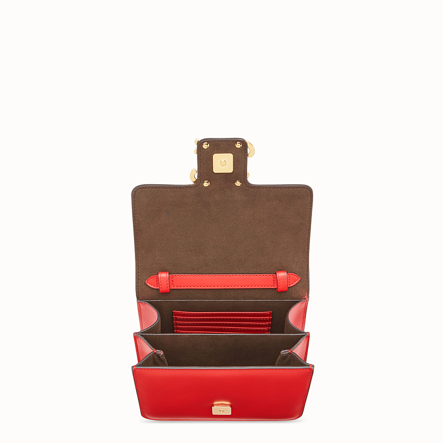 FENDI KARLIGRAPHY - Red leather bag - view 4 detail