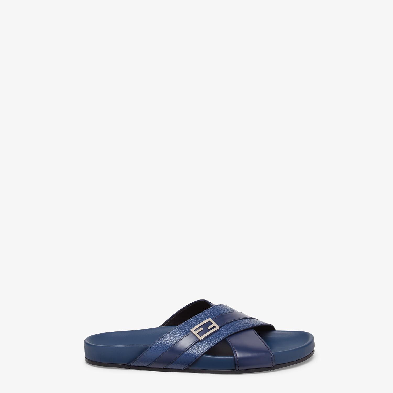 FENDI SANDALS - Blue leather fussbets - view 1 detail