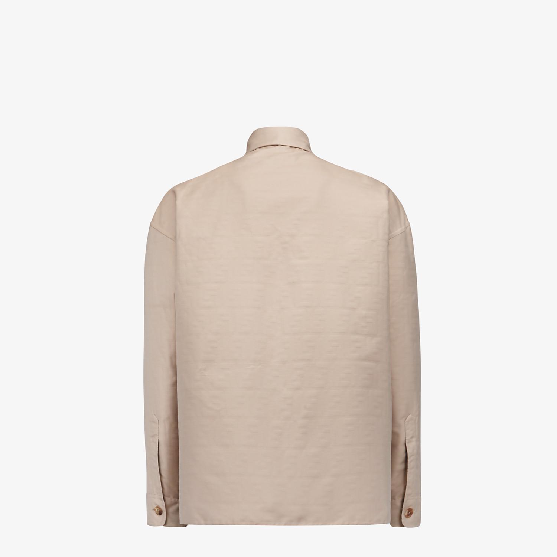 FENDI BLOUSON JACKET - Beige nylon jacket - view 2 detail