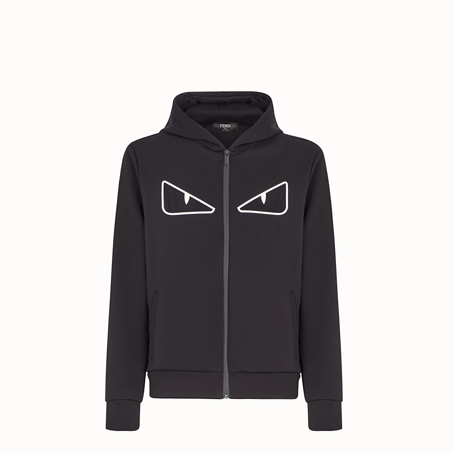 FENDI SWEATSHIRT - Black cotton sweatshirt - view 1 detail