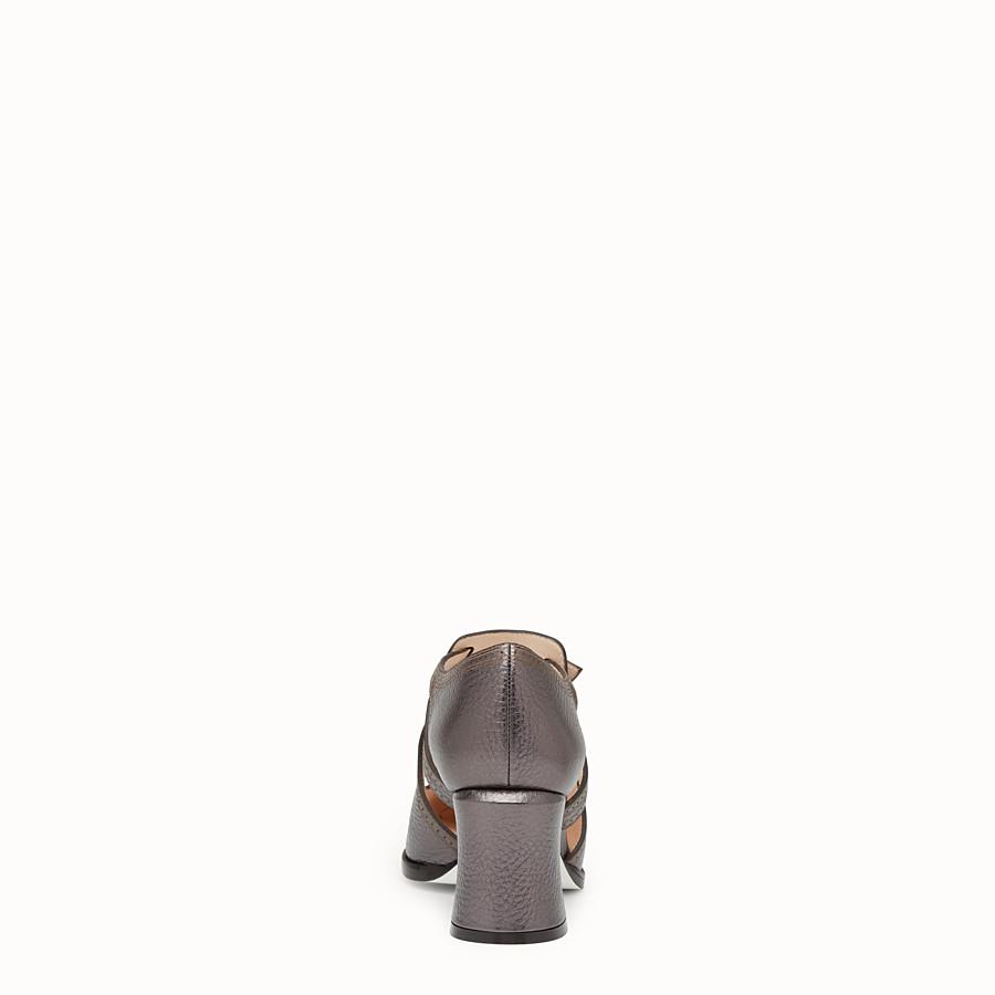 FENDI ESCARPINS - Escarpins découpés en cuir anthracite - view 3 detail