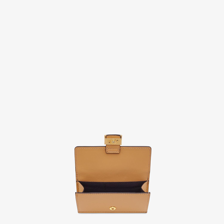 FENDI CARD HOLDER - Beige nappa leather card holder - view 3 detail