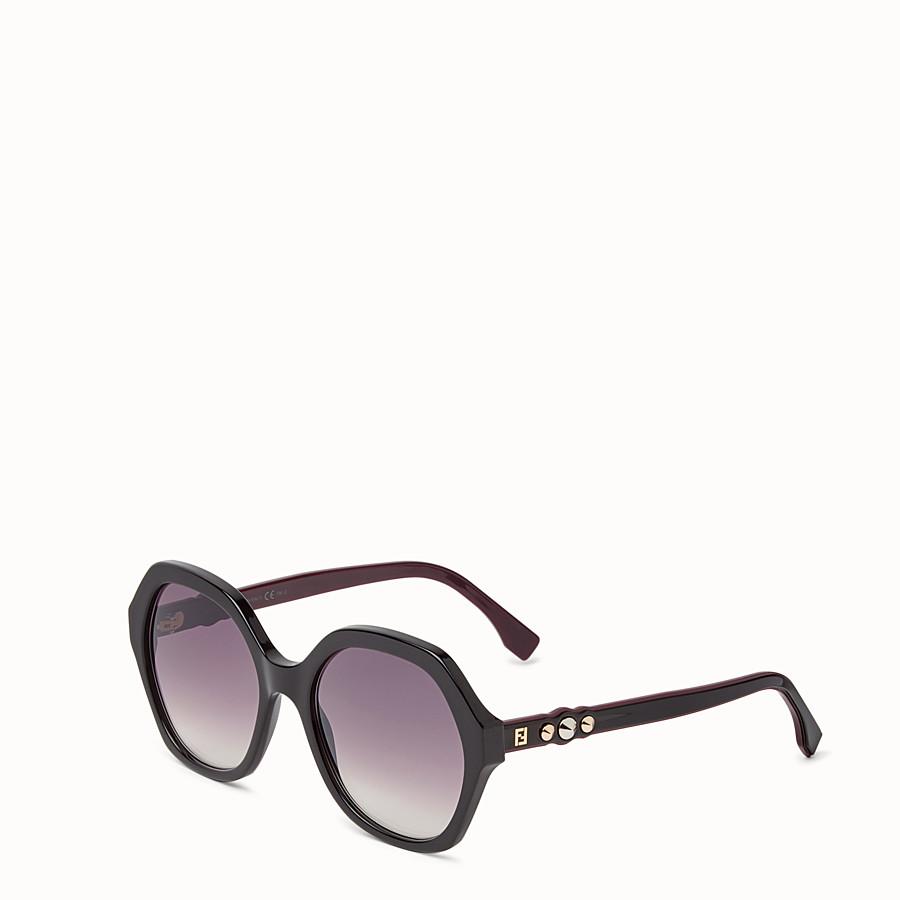 FENDI FUN FAIR - Black sunglasses - view 2 detail