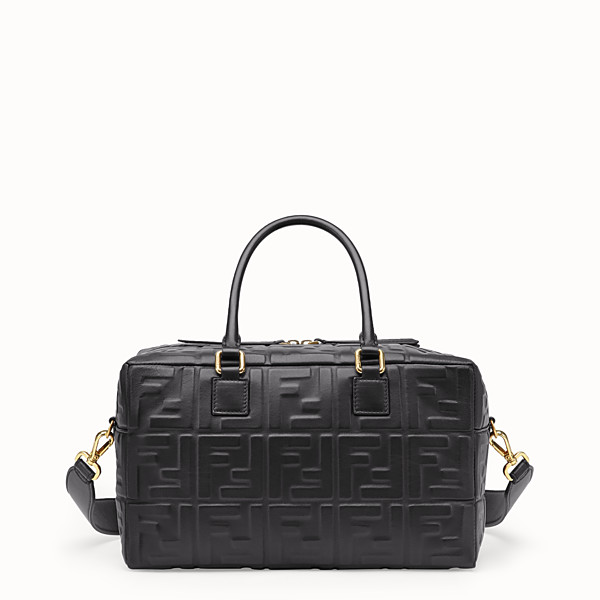 FENDI SMALL BOSTON - Black leather Boston bag - view 1 small thumbnail