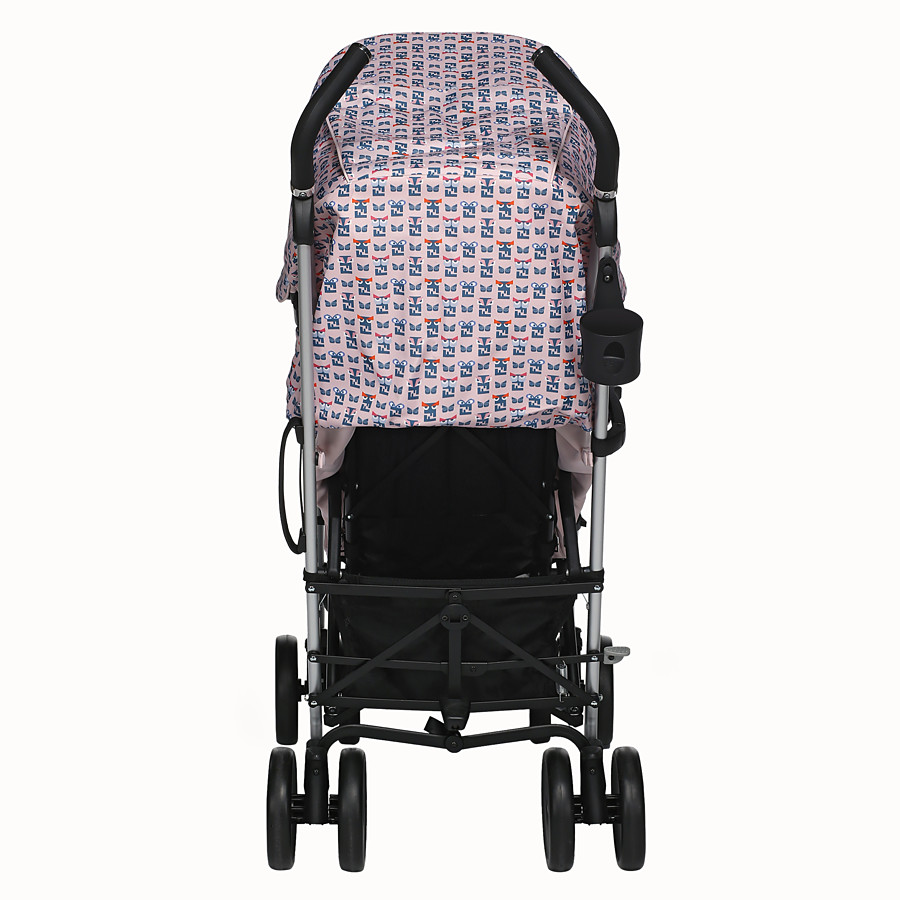 FENDI STROLLER - Pink stroller in fire-resistant material with monster pattern - view 5 detail