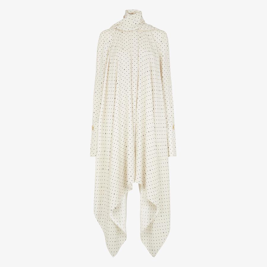 FENDI DRESS - White satin dress - view 1 detail