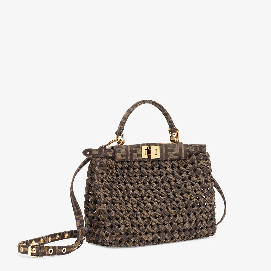 FENDI PEEKABOO ICONIC MINI - Jacquard fabric interlace bag - view 3 detail