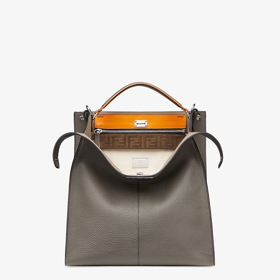 FENDI PEEKABOO X-LITE FIT - Gray leather bag - view 1 detail