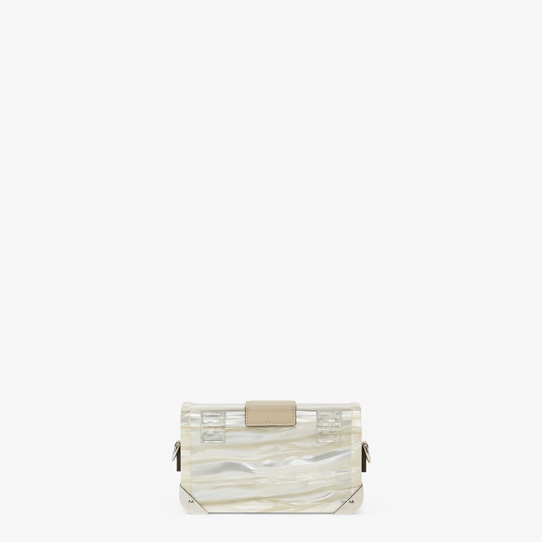 FENDI BAGUETTE TRUNK MINI - Mother of pearl plexiglass bag - view 3 detail