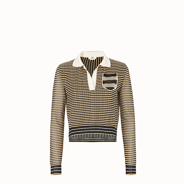FENDI PULLOVER - Micro-check silk jumper - view 1 small thumbnail