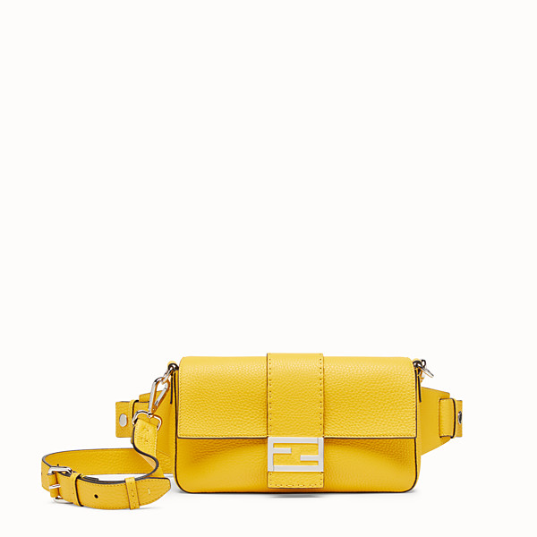 FENDI BAGUETTE - Yellow leather bag - view 1 small thumbnail