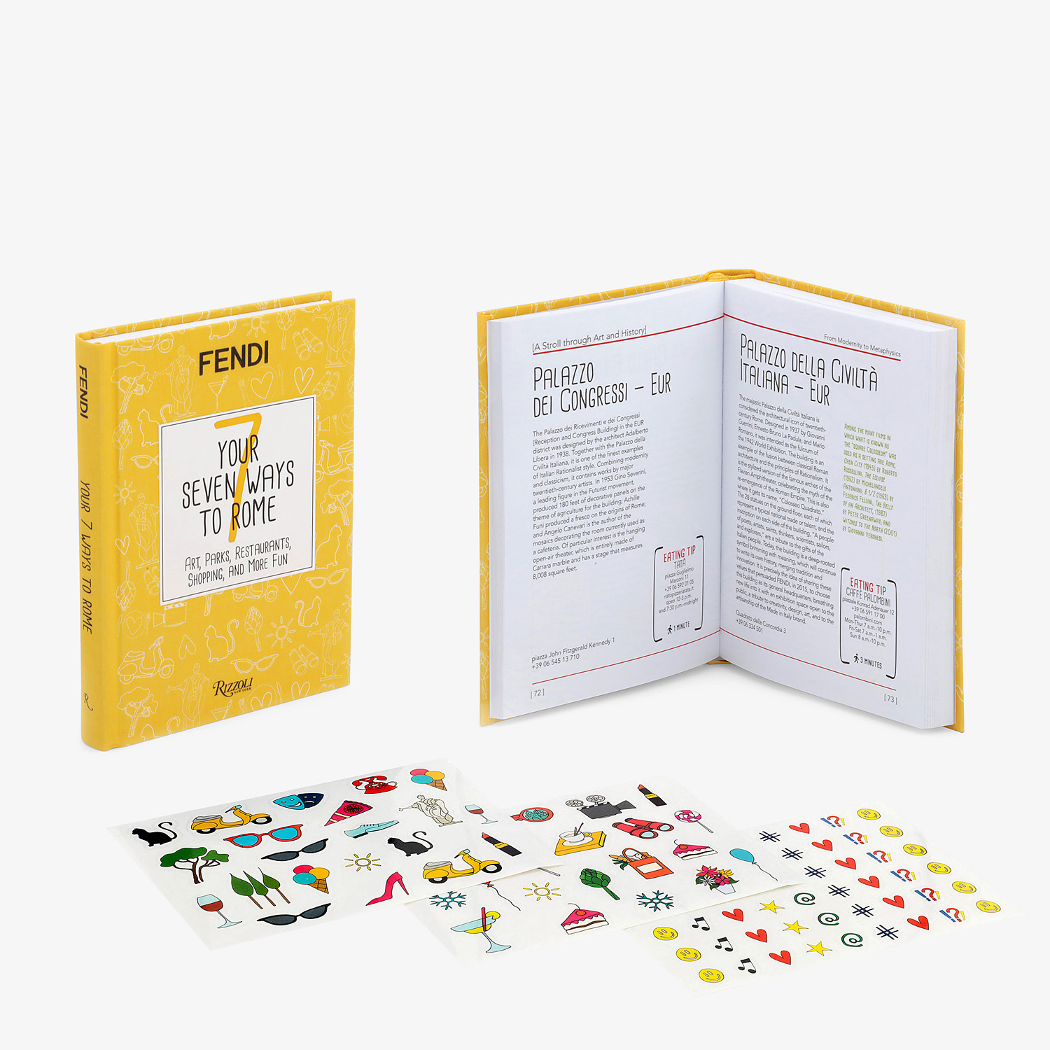 FENDI YOUR SEVEN WAYS TO ROME - Hardback version available in English - view 2 detail