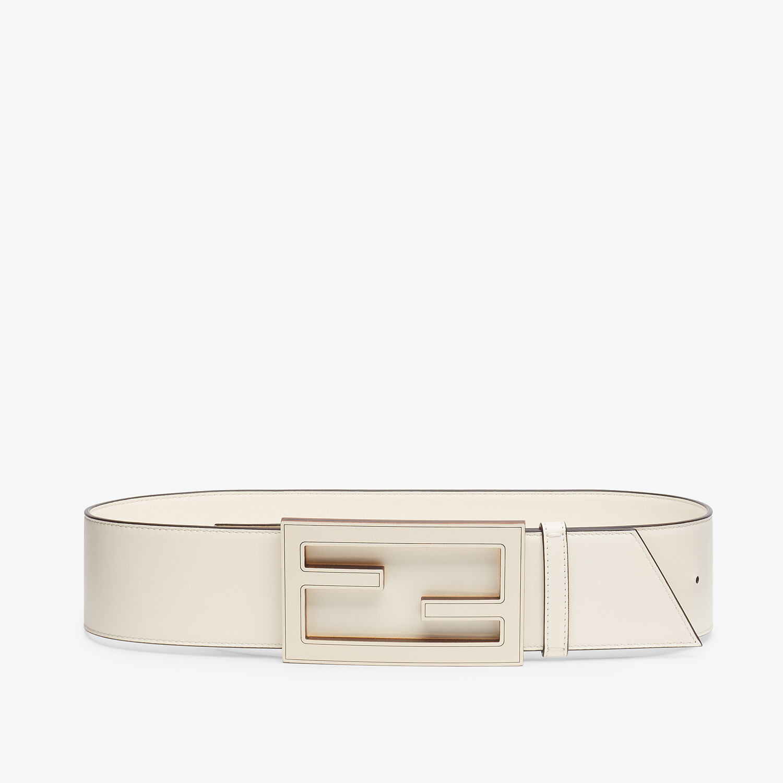 FENDI BELT - White leather belt - view 1 detail