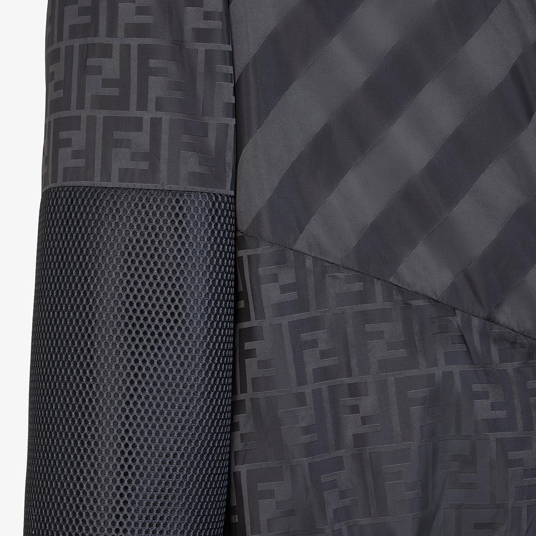 FENDI BLOUSON JACKET - Black nylon sweatshirt - view 3 detail