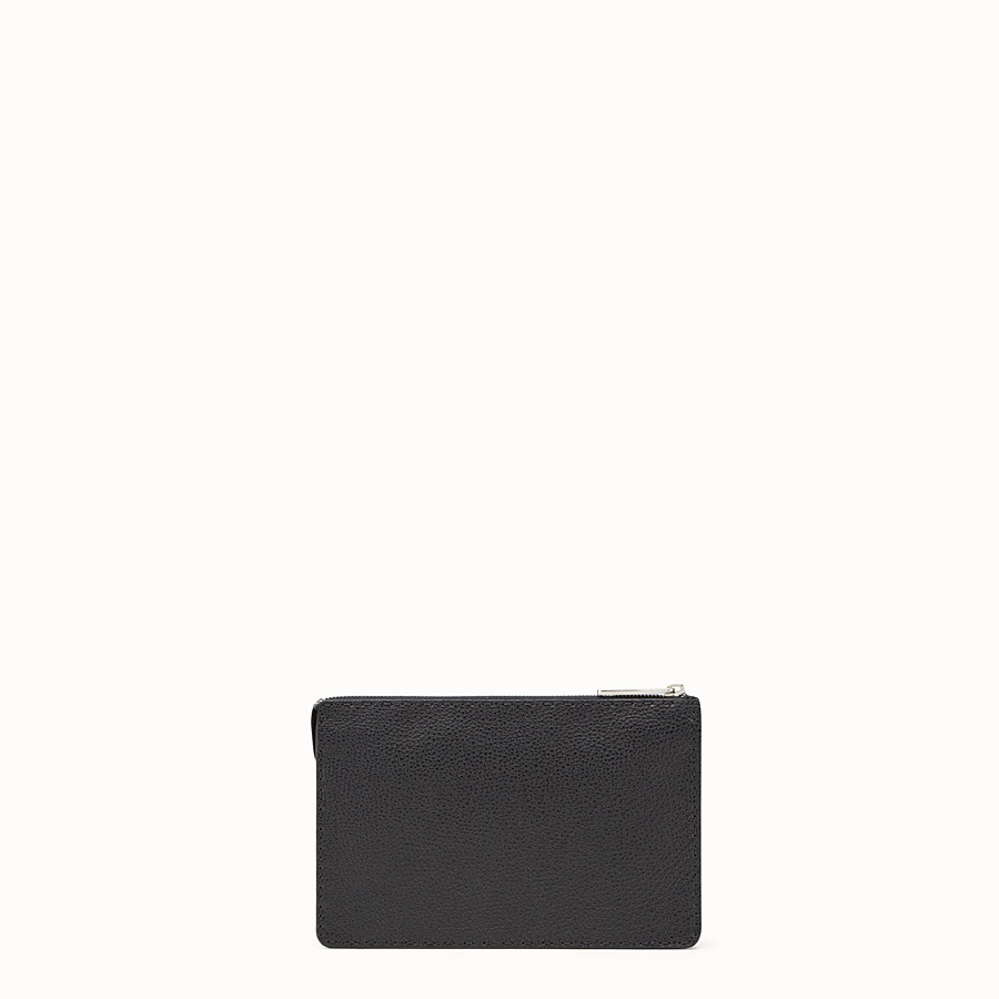 FENDI CLUTCH - Black leather clutch - view 3 detail