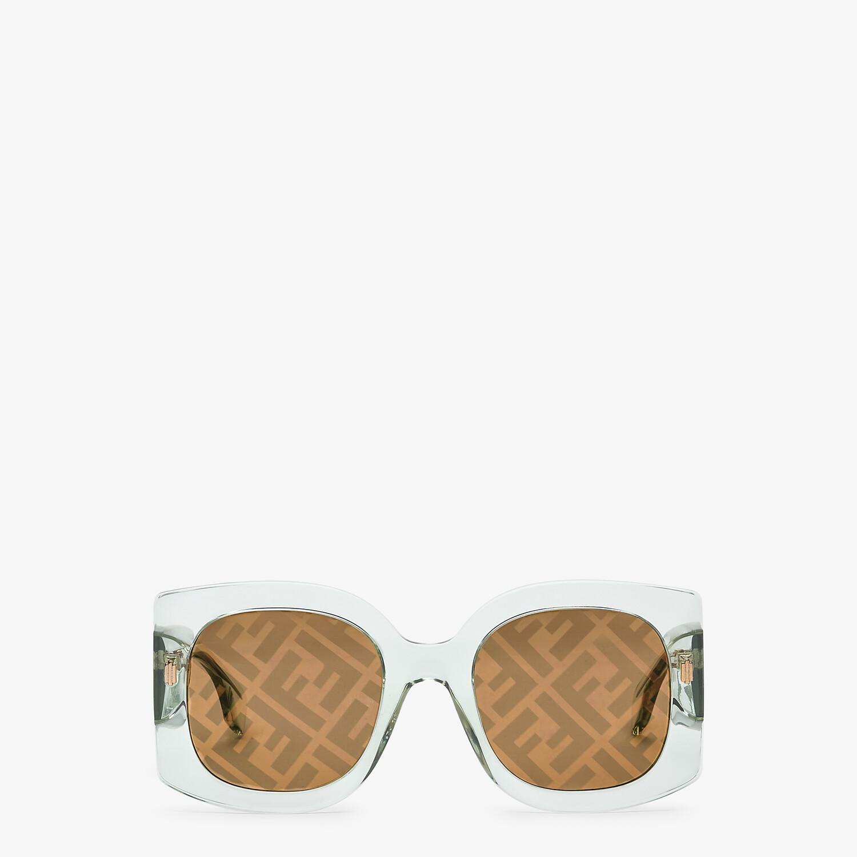 FENDI FENDI ROMA - Sunglasses in transparent green acetate - view 1 detail