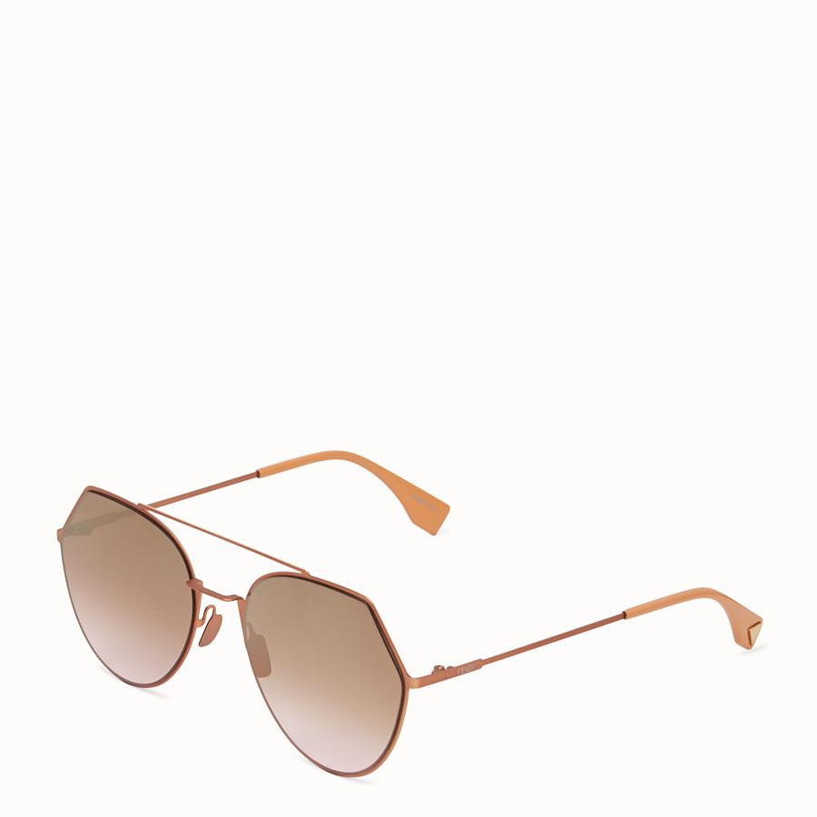 FENDI EYELINE - Occhiali da sole rosa matte. - vista 2 dettaglio