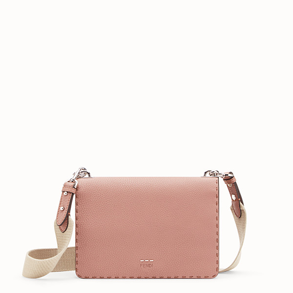 FENDI MESSENGER - Pink leather messenger - view 1 small thumbnail
