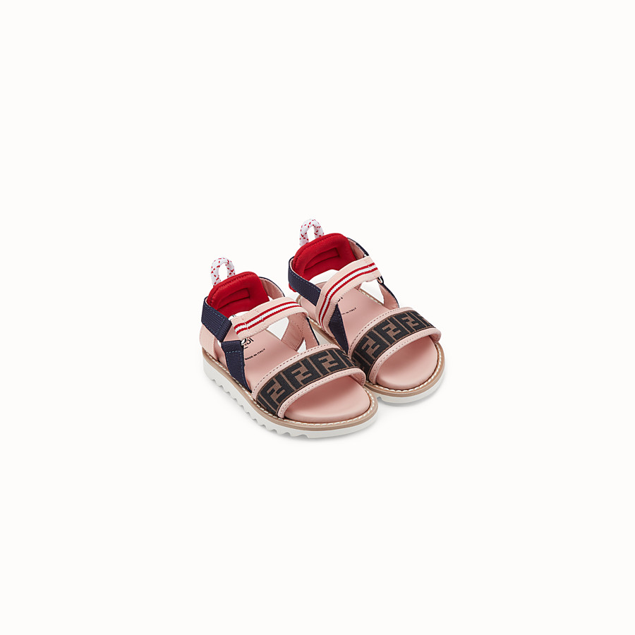 FENDI SANDALS - Pink first steps neoprene sandals - view 2 detail