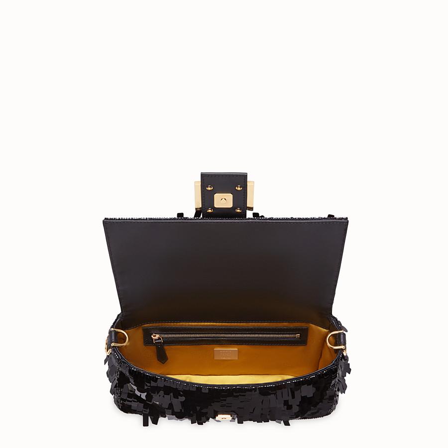 FENDI BAGUETTE - Black sequin bag - view 4 detail